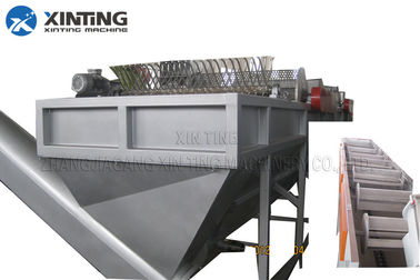 300kg / Hr Plastic Waste Recycling Machine Hdpe Bottle Crushing Washing Dewatering